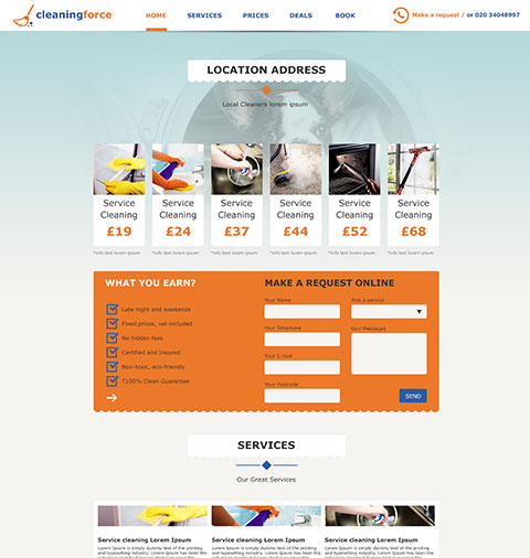 Website by Clean landing page template